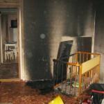 Игра ребёнка с зажигалкой привела к пожару в поставкой квартире