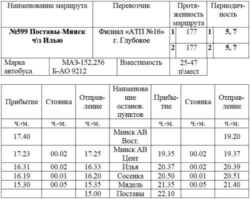 Поставы-Минск 15-00